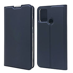 Leather Case Stands Flip Cover L06 Holder for Huawei Honor 9A Blue