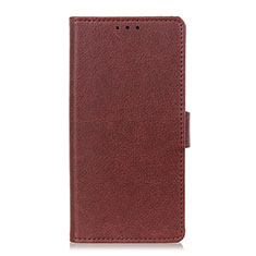 Leather Case Stands Flip Cover L06 Holder for Huawei Honor 9X Lite Brown