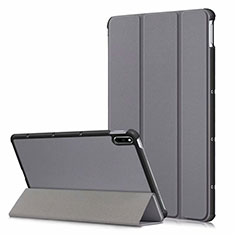 Leather Case Stands Flip Cover L06 Holder for Huawei MatePad 5G 10.4 Gray
