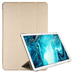 Leather Case Stands Flip Cover L06 Holder for Huawei MediaPad M6 10.8 Gold