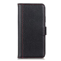 Leather Case Stands Flip Cover L06 Holder for Huawei P Smart (2020) Black