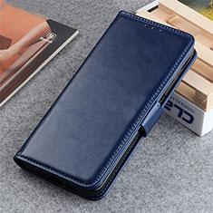 Leather Case Stands Flip Cover L06 Holder for LG K22 Blue