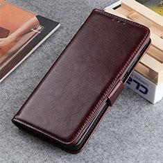 Leather Case Stands Flip Cover L06 Holder for LG K22 Brown