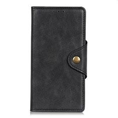 Leather Case Stands Flip Cover L06 Holder for LG Q52 Black