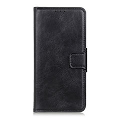Leather Case Stands Flip Cover L06 Holder for Motorola Moto E6s (2020) Black