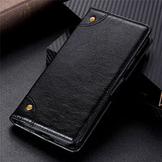 Leather Case Stands Flip Cover L06 Holder for Motorola Moto G9 Plus Black