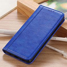 Leather Case Stands Flip Cover L06 Holder for Motorola Moto G9 Power Blue