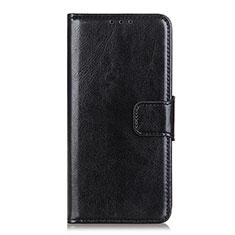 Leather Case Stands Flip Cover L06 Holder for Motorola Moto One 5G Black