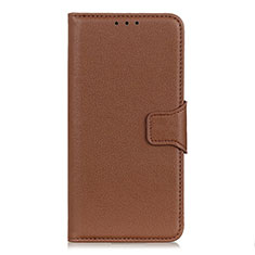 Leather Case Stands Flip Cover L06 Holder for OnePlus Nord Brown