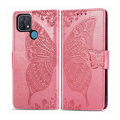 Leather Case Stands Flip Cover L06 Holder for Oppo A15 Pink