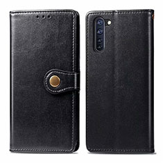 Leather Case Stands Flip Cover L06 Holder for Oppo Reno3 A Black