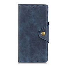 Leather Case Stands Flip Cover L06 Holder for Oppo Reno4 Z 5G Blue