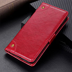 Leather Case Stands Flip Cover L06 Holder for Sony Xperia 5 II Red