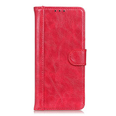 Leather Case Stands Flip Cover L06 Holder for Xiaomi Mi 10T 5G Red