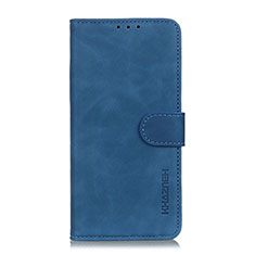 Leather Case Stands Flip Cover L06 Holder for Xiaomi Poco X3 NFC Blue