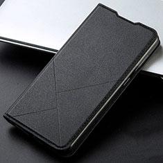 Leather Case Stands Flip Cover L06 Holder for Xiaomi Redmi K30 5G Black