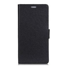 Leather Case Stands Flip Cover L07 Holder for Alcatel 1X (2019) Black