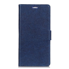 Leather Case Stands Flip Cover L07 Holder for Alcatel 1X (2019) Blue