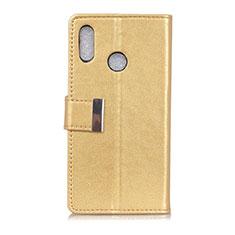 Leather Case Stands Flip Cover L07 Holder for Asus Zenfone 5 ZE620KL Gold