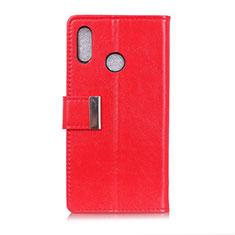 Leather Case Stands Flip Cover L07 Holder for Asus Zenfone 5 ZE620KL Red