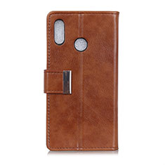 Leather Case Stands Flip Cover L07 Holder for Asus Zenfone 5 ZS620KL Brown