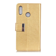 Leather Case Stands Flip Cover L07 Holder for Asus Zenfone 5 ZS620KL Gold