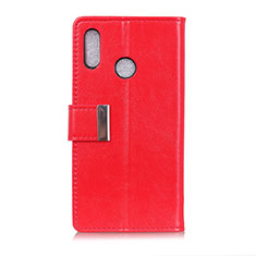 Leather Case Stands Flip Cover L07 Holder for Asus Zenfone 5 ZS620KL Red