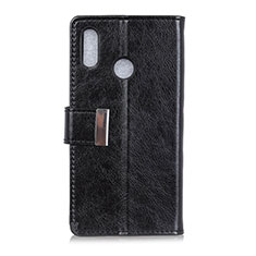 Leather Case Stands Flip Cover L07 Holder for Asus Zenfone Max ZB555KL Black