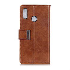 Leather Case Stands Flip Cover L07 Holder for Asus Zenfone Max ZB555KL Brown