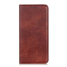 Leather Case Stands Flip Cover L07 Holder for Google Pixel 4a Brown