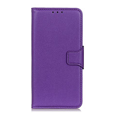 Leather Case Stands Flip Cover L07 Holder for Huawei Honor 9X Lite Purple