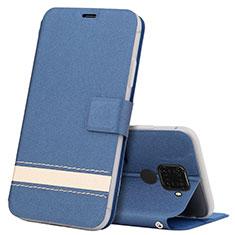 Leather Case Stands Flip Cover L07 Holder for Huawei Nova 5z Blue