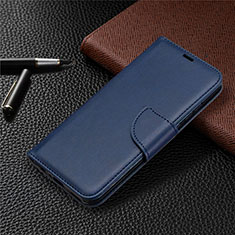 Leather Case Stands Flip Cover L07 Holder for Huawei P Smart (2020) Blue