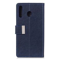 Leather Case Stands Flip Cover L07 Holder for Huawei Y6p Blue