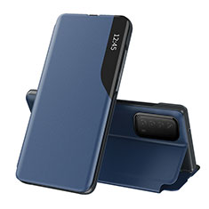 Leather Case Stands Flip Cover L07 Holder for Huawei Y7a Blue