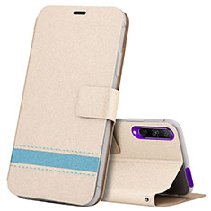 Leather Case Stands Flip Cover L07 Holder for Huawei Y9s Gold