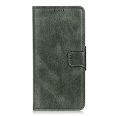 Leather Case Stands Flip Cover L07 Holder for LG K22 Green
