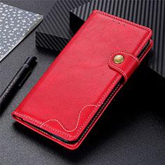 Leather Case Stands Flip Cover L07 Holder for LG K42 Red