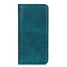 Leather Case Stands Flip Cover L07 Holder for LG K62 Green