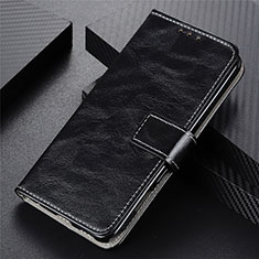 Leather Case Stands Flip Cover L07 Holder for Motorola Moto G9 Plus Black
