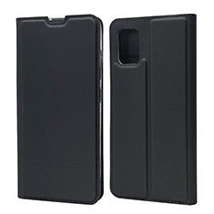 Leather Case Stands Flip Cover L07 Holder for Samsung Galaxy A71 5G Black