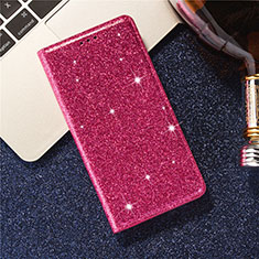 Leather Case Stands Flip Cover L07 Holder for Samsung Galaxy S20 5G Red