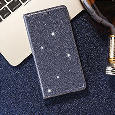 Leather Case Stands Flip Cover L07 Holder for Samsung Galaxy S20 Ultra 5G Blue