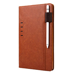 Leather Case Stands Flip Cover L07 Holder for Samsung Galaxy Tab S6 10.5 SM-T860 Brown