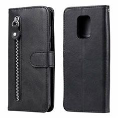 Leather Case Stands Flip Cover L07 Holder for Xiaomi Redmi Note 9 Pro Black
