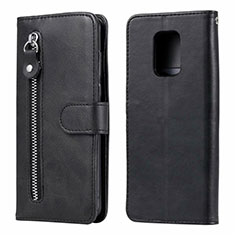 Leather Case Stands Flip Cover L07 Holder for Xiaomi Redmi Note 9 Pro Max Black