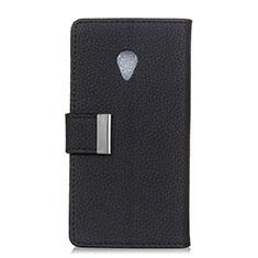 Leather Case Stands Flip Cover L08 Holder for Alcatel 1X (2019) Black