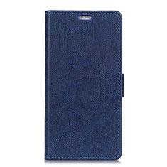Leather Case Stands Flip Cover L08 Holder for Asus Zenfone 5 ZE620KL Blue