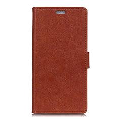 Leather Case Stands Flip Cover L08 Holder for Asus Zenfone 5 ZE620KL Brown