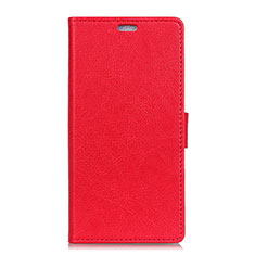 Leather Case Stands Flip Cover L08 Holder for Asus Zenfone 5 ZS620KL Red